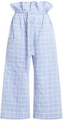 WILLIAM FAN Printed Cotton Wide Leg Pants