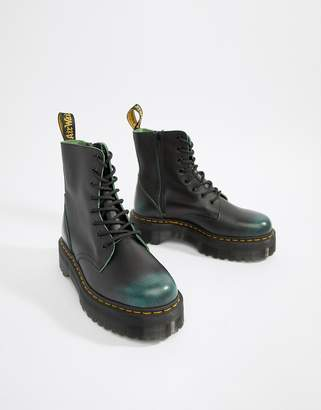 Dr. Martens Jadon 8-eye chunky sole boots in green
