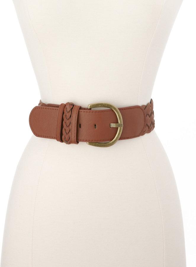 Charlotte Russe Braided Leatherette Belt