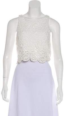 Miguelina Crochet Sleeveless Top