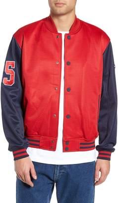 Tommy Jeans Bonded Mesh Bomber Jacket