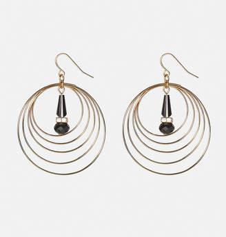 Avenue Wire Circle Stone Drop Earrings