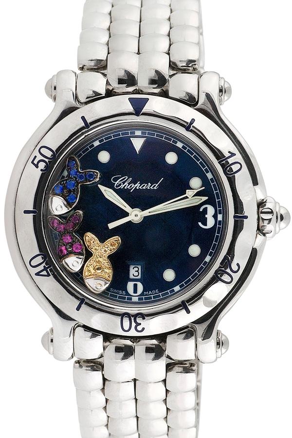 Chopard Happy Sport Stainless Steel & Sapphire Watch, 33mm