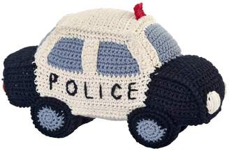Anne Claire Hand-Crocheted Cotton Police Car Rattle