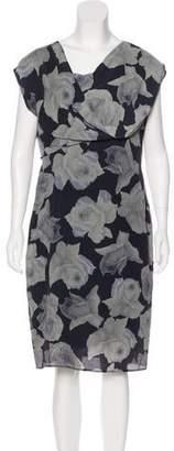 Lanvin Printed Sleeveless Dress