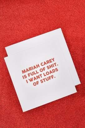 boohoo Mariah Carey Christmas Card