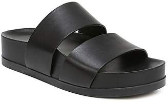 Via Spiga Women's Milton Leather Platform Slide Sandals