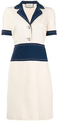 Gucci colourblock shirt dress