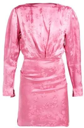 ATTICO The Floral Jacquard Mini Dress - Womens - Pink