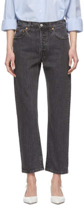Levi's Levis Black 501 Crop Jeans