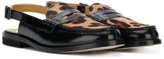 Gallucci Kids TEEN leopard print sandals