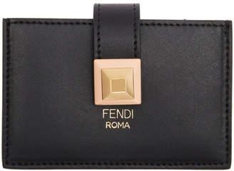 Fendi Black Single Stud Card Holder