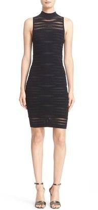 Women's Parker 'Gemma' Shadow Stripe Ribbed Knit Body-Con Dress $325 thestylecure.com