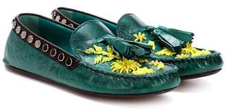 Prada Exclusive to mytheresa.com – embellished leather moccasins
