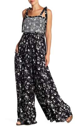 Free People Color My World Patterned Wide Leg Jumpsuit