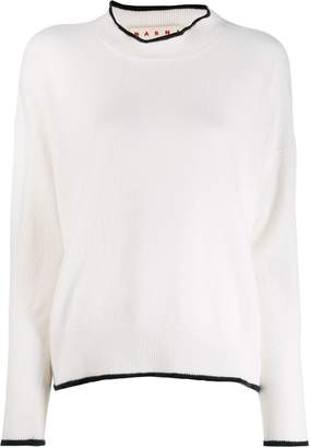 Marni contrast piping detailed sweater
