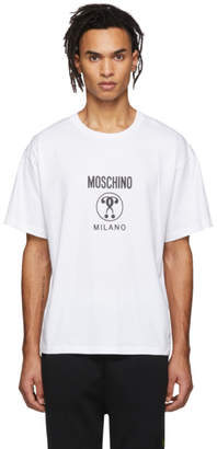 Moschino White Small Double Question Mark T-Shirt