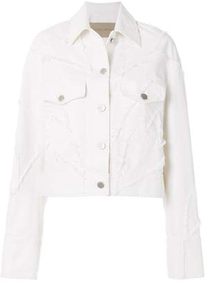 Christian Wijnants distressed patchwork denim jacket