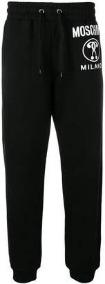 Moschino contrast logo track pants