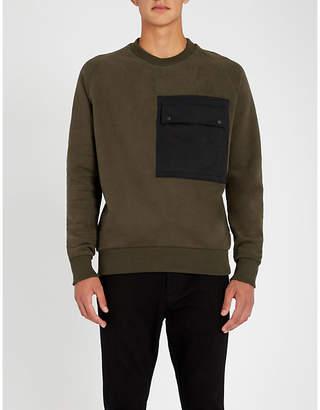 HUGO Patch-pocket stretch-cotton sweatshirt
