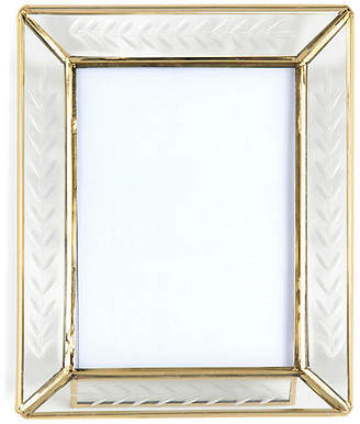 One Kings Lane 5x7 Harlow Picture Frame - Silver/Gold