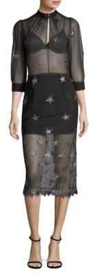 Fleur Du Mal Superstar Sheer Midi Dress
