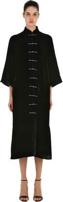 Yali Silk Velvet Long Jacket