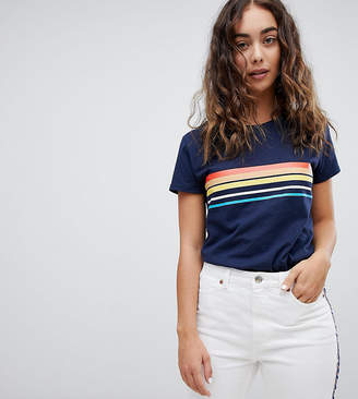 Daisy Street t-shirt with vintage stripe