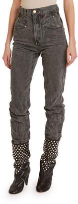 Isabel Marant Dominic High-Rise Acid-Wash Jeans