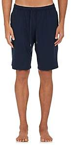 Derek Rose Men's Fluid Jersey Drawstring-Waist Shorts-Blue