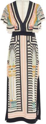 Temperley London Obelisk V-Neck Crepe Dress
