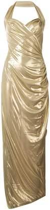 Norma Kamali halter neck dress