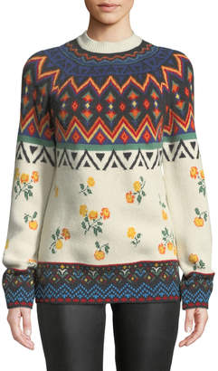 Greenland Alanui Jacquard Cashmere Pullover Sweater