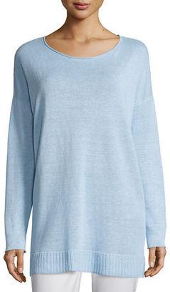Eileen Fisher Organic Linen Fine-Gauge Tunic $188 thestylecure.com