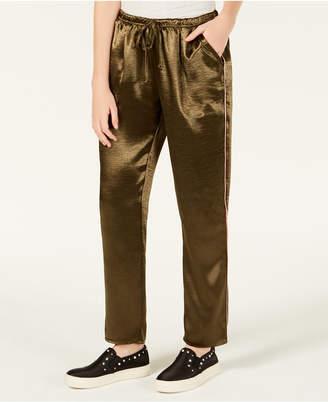 Material Girl Juniors' Satin Varsity-Stripe Pants