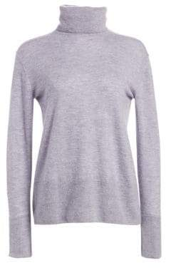 3.1 Phillip Lim Button-Back Cashmere Turtleneck Sweater
