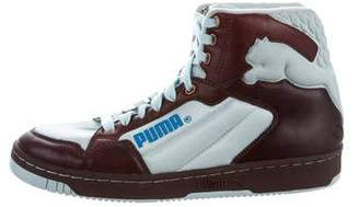 Puma Logo High-Top Sneakers