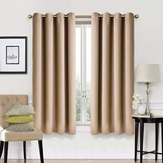 EASELAND Blackout Curtains 2 Panels Set Room Darkening Drapes Thermal Insulated Solid Grommets Window Treatment Pair for Bedroom