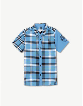 Burberry Check print cotton shirt 4-14 years