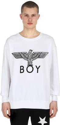 Boy London Logo Printed Cotton Sweatshirt