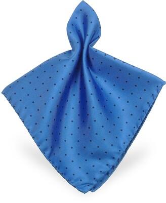 Forzieri Polkadot Twill Silk Pocket Square