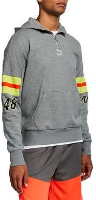 f0199f77e8 Striped Sleeve Hoodie Men - ShopStyle