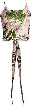 Sinesia Karol Women's Scarlet Silk Wrap Sleeveless Top