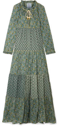 Yvonne S - Tiered Printed Cotton-voile Maxi Dress - Green