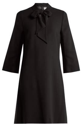 Goat Ginny tie-neck wool-crepe dress