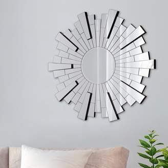 "Beveled Silver Starburst Accent Mirror 11""x11"" by Gallery Solutions"
