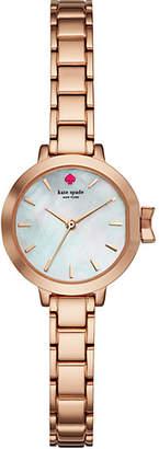 Kate Spade Park row mini rose gold-tone bracelet watch