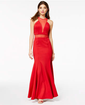As U Wish Juniors' Halter Gown, Created for Macy's