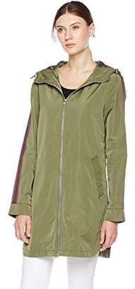Otterline Women's Poly Memory Relaxed-Fit Full Front Zip Hood Rain Jacket S