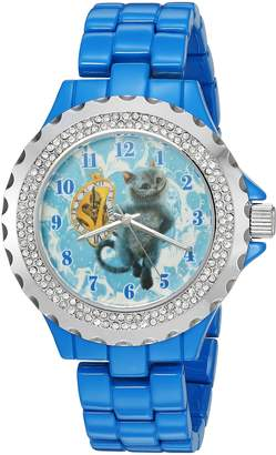 Disney Women's 'The Cheshire Cat' Quartz Metal and Alloy Automatic Watch, Color: (Model: W003070)